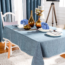 Modern Rectangular Table Cloths For Wedding Blue Table Covers Elegant Table Overlays Elegant Dining Manteles Cyan Home Decor New(China)
