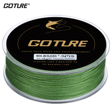 Goture Brand Braided Fishing Line 500M 547YD 4 stands Multifilament Fishing Line Japan Cord Line 8-80LB(China)