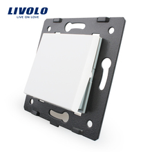 Livolo White Plastic Materials, 45mm*45mm, EU  Standard, Bing  One Way Function Key For Wall Push Button Switch,VL-C7-K1-11