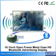 10.1inch Open Frame Metal Case HD Bluetooth Advertising Display