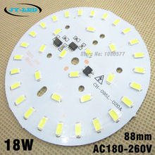 10pcs 220v 18W 5730 smd led light pcb integrated ic driver, 88mm aluminum blub plate for LED bulbs lighting(China)
