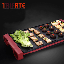1800W Smokeless Electric Pan Grill Flat Pan BBQ Grill Raclette Grill Electric Griddle