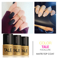FOCALLURE  12ml Matt Matte Top Coat Nail Gel Polish for Nail Art  Dull Finish Top Coat Gel