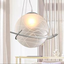 Modern Glass Ball Pendant Lights LED Bulb Hanging Lamp Contemporary Home Decorate Lighting Free shipping PL019