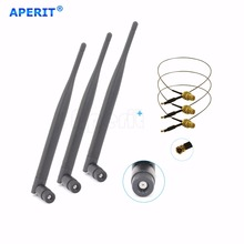 Aperit 3 x 6dBi Dual Band 2.4 Ghz 5.0 Ghz WiFi Antenna RP-SMA and U.Fl cable New 30cm(China)