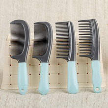 CN-RUBR Home Cozy Natural Comb Plastic Grey Green Super Deal Anti-static Massage Hair Styling Fashion Simple Compact Handle Comb(China)