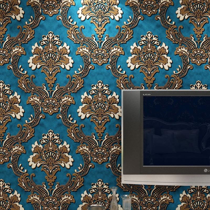 3D Wallpapers Home Decor Bedroom Wallpaper Flower Damask Floral Wall Paper Roll Non woven Wallpaper Living room papel de parede<br>