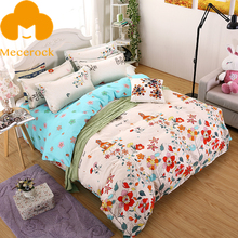 MECEROCK Brand Home-textile Little Flower And Tree Pattern Bed Linens Twin Full Queen King Size Bedding Sets(China)