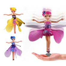 DIY Flying Fairy Dolls Learning & Education Infrared Induction Control Flying Angel Doll Baby toys Xmas girls Gift Random color