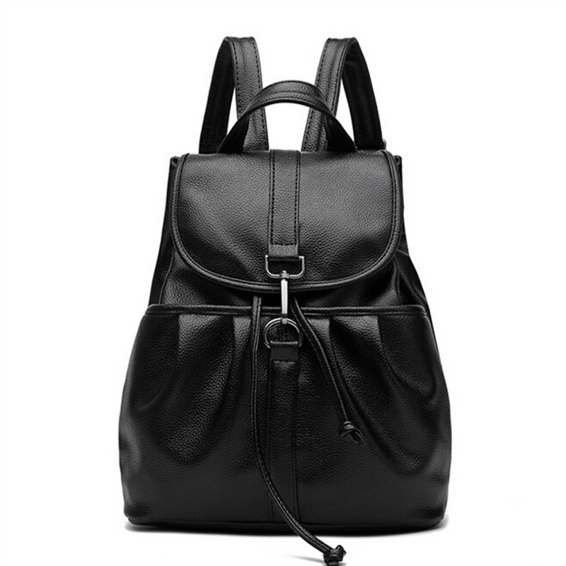 NEW Fashion Black Backpack Women Backpack Leather School Bag Women Casual Style High Quality Ladies Bags Designer Bolsas<br><br>Aliexpress