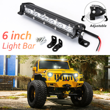 "Led Beams 6"" inch 18W LED Car Work Light Bar Spotlight Offroad Fog Lamp Vehicle 18w Work Lamp LED 12V Work Light Car Styling(China)"