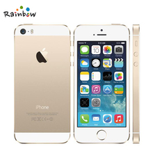 Original Apple iPhone 5s Unlocked 16GB / 32GB ROM 8MP Camera 1136x640 pixel WIFI GPS Bluetooth Cell phone multi language(China)