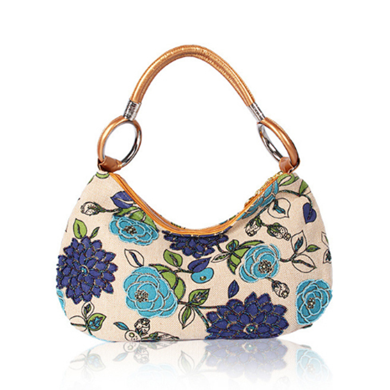 Homeda Women Tote bag Pure Handmade Double-Sided Bead Embroidery bags For Women 2017  Female Bag k-161<br>