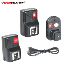 YINGNUOST 4 Channel Wireless Remote Radio Flash Trigger + Two PC Receivers for Canon/Nikon/Yongnuo Camera Universal Hot Shoe(China)