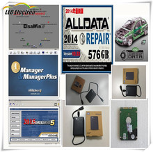 2017 Alldata and mitchell on demand softwar 2015+ElsaWin+vivid workshop ect all data 50 in1tb usb hdd work for all car and truck