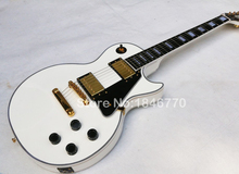 Musical instruments custom shop ebony fretboard Deluxe les electric guitar,Custom lp white paul guitarra ,Free shipping