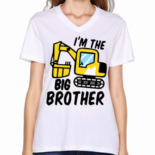 2017 Big Brother Monster Truck Youth and Toddler Printed Women V-Neck Shirts  Cool Cartoon Design Fitness Dance