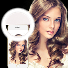 Phone Holder Selfie Portable Flash Led Camera Phone Photography Ring Light Enhancing Photography for iPhone Smartphone(China)