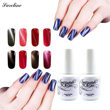 Saroline lucky Gel Nail Polish Magnetic Nail Polish Colors Gel Luckly Varnish Lacquer 3d Cat Eye UV LED Nail Gel(China)