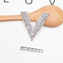 DOWER ME 2 Pcs/lot Fashion DIY Decorations The shape of love Alloy multicolored rhinestone Women's Mobile Phone Stickers