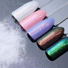 BORN PRETTY 1.5g Chameleon Mermaid Nail Powder Chrome Pigment Manicure Glitters Fairy Dust Nail Art Decorations(China)