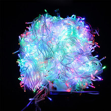 100M 600 LED Christmas Led String Light Outdoor Waterproof 220V Fairy String Garland 9 Color For Garden Wedding Party(China)