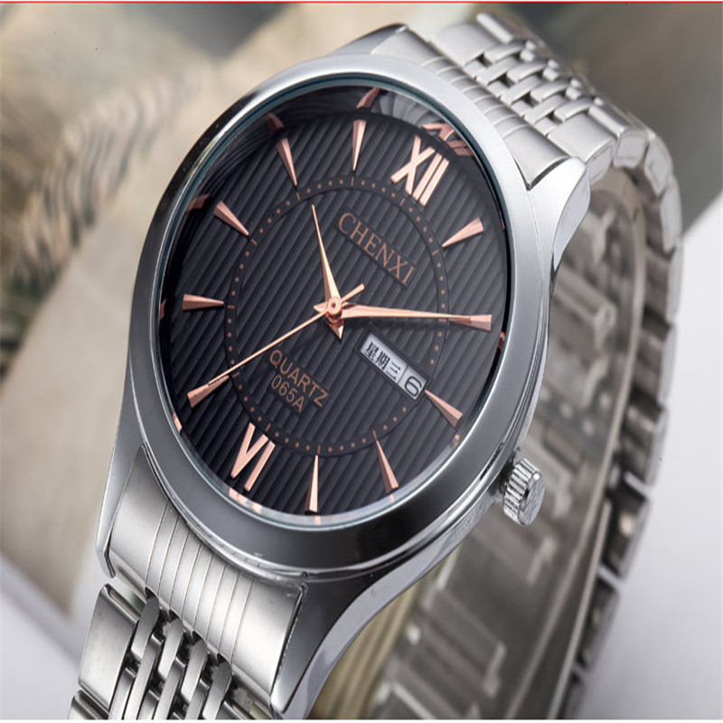 Ultra-thin full stainless steel Luxury Band Chenxi watches men 4 colors fashion Week calendar quartz watch montre homme p20<br><br>Aliexpress
