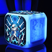 HOT sale undertale Digital Alarm Toy Clocks action sans and papyrus cartoon game nightlight classic action figures toys