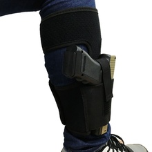 Tactical Padded Concealed Ankle Holster Black Hunting Bag Belt Strap Belt Ankle Leg Gun Holster Pouches(China)