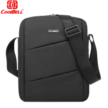 CoolBell Slim Nylon Fabric Case Portable Laptop Shoulder Bag Carrying Sleeve Messenger Bag for IPad Pro 9.7 10 10.1 inch Tablet(China)