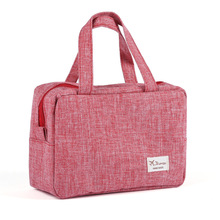 Large size Travel Storage women waterproof woven dull jean zipper openingn big Cosmetic bag/wash bag/inside bag 10 colors