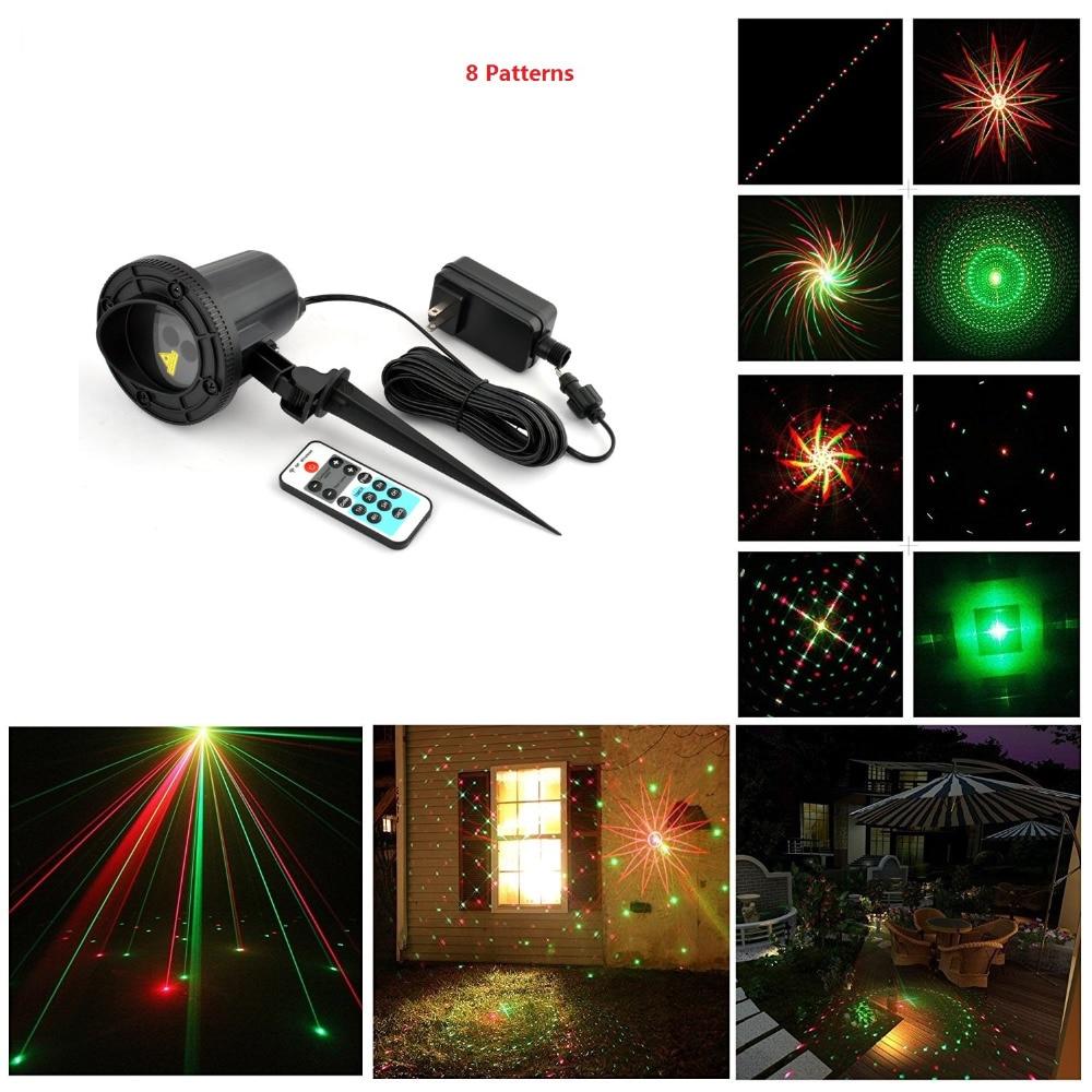 christmas lights outdoor laser 8 Big Patterns Remote RG Laser Light Projector Waterproof Snowflake Xmas Tree Garden Decorations <br><br>Aliexpress