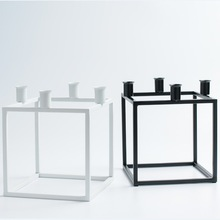 Wedding Candle Holder Modern Metal Candle Holder Square Candle Stand for Home Decoration Ornament Decorative