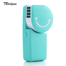 Tbonlyone 600Mah Small Electric Battery Fan For Bed Outdoor Office Air Cooling Rechargeable Handheld Mini Usb Portable Fan(China)