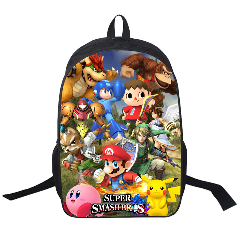 Anime Character Mario Sonic Pikachu Printing Backpack For Teenagers Boys Girls School Bags Pokemon School Backpacks Kid Gift Bag<br><br>Aliexpress