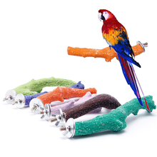 Crude Branch Wood Pet Parrot Raw Fork Stand Rack Toy Hamster Perches Bird Cage   -Y102