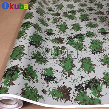 Green Woodland Military Digital Camo Vinyl Wrap Full Body Car Sticker Car Wrapping Camouflage Film 1.52*30m/roll