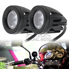 Pair Motorcycle Spot Light Universal 10W 1000LM Motocross Fog Light 6500K LED 4WD for MX Off Road Dirt Bike ATV KTM Yamaha(China)