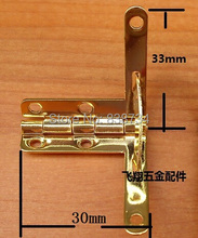10pcs 30*33MM Packaging Hardware Hinge Support Extremely Heavy Steel with Golden plated Gift Box Hinge(China)