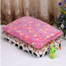 New Fashion Cute Paw Prints Paw Print Cat Dog Fleece Soft Blanket Warm Pet Bed Mat Cover Small Medium Large