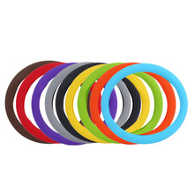 New Soft Silicone Steering Wheel Cover Shell Skidproof Odorless Eco-Friendly Protector For Car Six Colors Interior Accessories