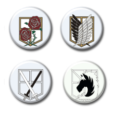 58MM Cosplay Anime Button Pin Brooch Badge backpacks cosplay Attack on Titan Scout Regiment Scout Legion Survey Corps Recon Corp(China)
