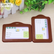 2016 PU Lanyard Women Card Case Holder Portable String Fashion ID Bus Identity Badge with Lanyard Porte Carte Credit