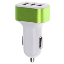 Popular 5V 4.1A 3 USB port car charger for mobile phone camare tablet PC all kinds of mobile smart devices 3 USB ports charger(China)