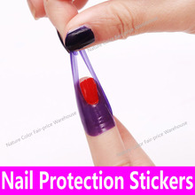 10stickers/piece Nail Protector Decal Protection Sticker Sheet Pro Manicure Finger Nail Art Case Design Tips Cover Polish Shield