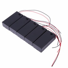 5PCS 9V Battery Holder Box Case with Wire Lead ON/OFF Switch Cover Case(China)
