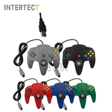 Wired USB Controller For Nintendo N64 Joystick Games Wired Gamepad Joypad For Gamecube Controle For N64 PC For Mac Black Gamepad