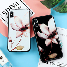 Chinese Lotus Flower Classic Case for iPhone X Phone Cases for iPhone 5 5S SE 6S 7 8 Plus Soft TPU Cover Coque Floral Capa Funda(China)