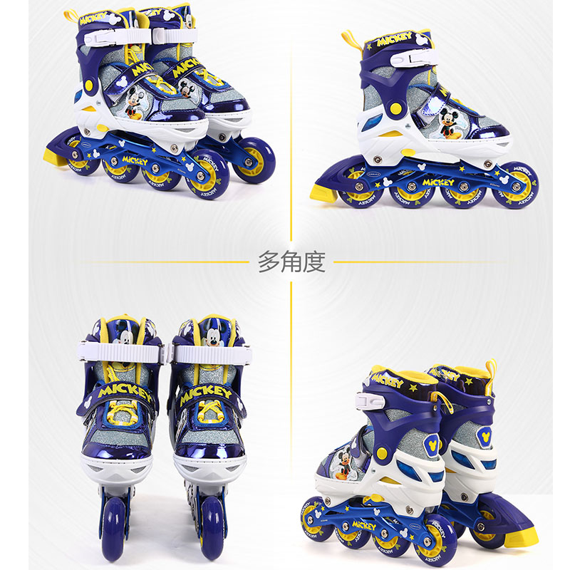 Disney Adjustable Skates Inline Skating Shoes Adjustable Washable Flash wheels Children Roller Skating Shoes (1)