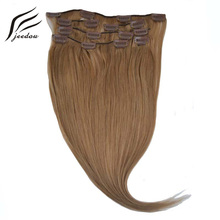 jeedou Straight Synthetic Hair Clip In Hair Extensions Straight Long 28Inch 70cm 7Pcs 120g Real Natural Hair Women's Hairpieces